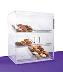 Donut Case | Extra Large Bakery Case with 2 Doors | Six Tray Donut Display