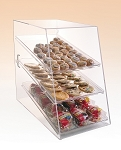 Pastry Cabinet with 3 Trays and Angled Front