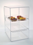 Roomy Bakery Case with 3 Straight Shelves