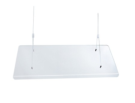 "48"" Suspended Sneeze Guard 